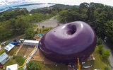 This Giant Inflatable Bean is Actually a Concert Hall