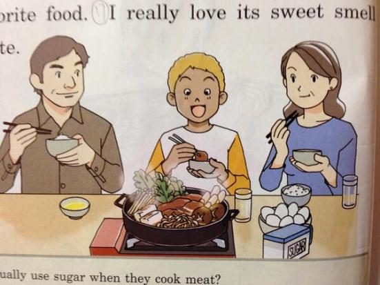 Family enjoying a meal