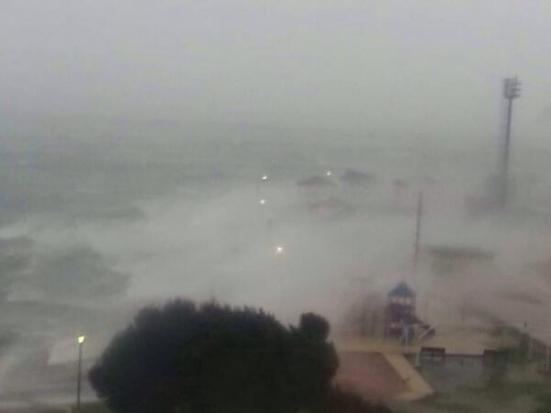 Yokosuka was hit just before the typhoon reached Tokyo (pic: