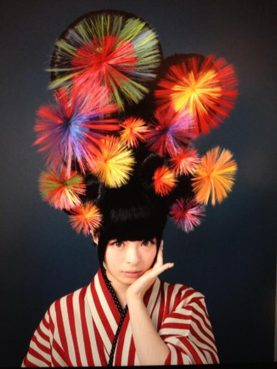 Kyary fireworks hair