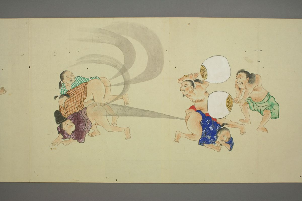 Edo Period Fart Scroll is Lowbrow Fine Art