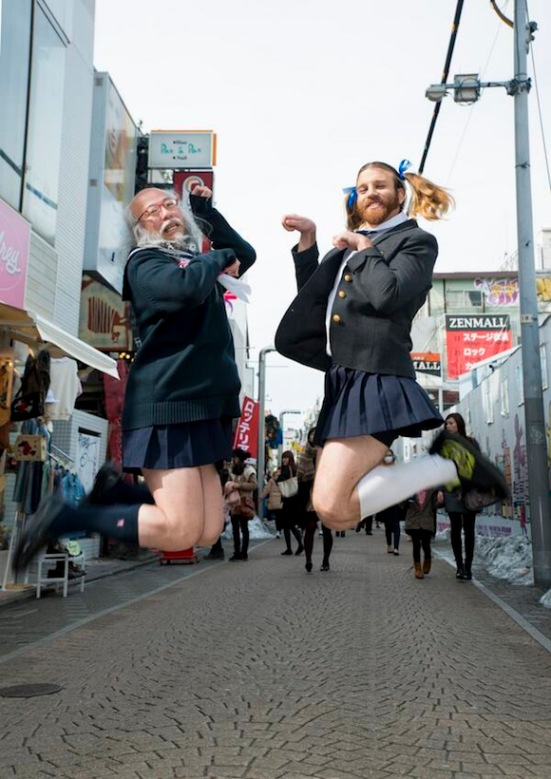 Ladybeard and another Tokyo celebrity