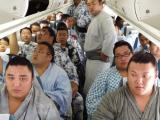 This Picture of a Flight Full of Sumo Wrestlers will Make You Forget all Your Travel Complaints