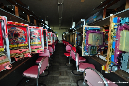 An abandoned pachinko parlour in Tokushima